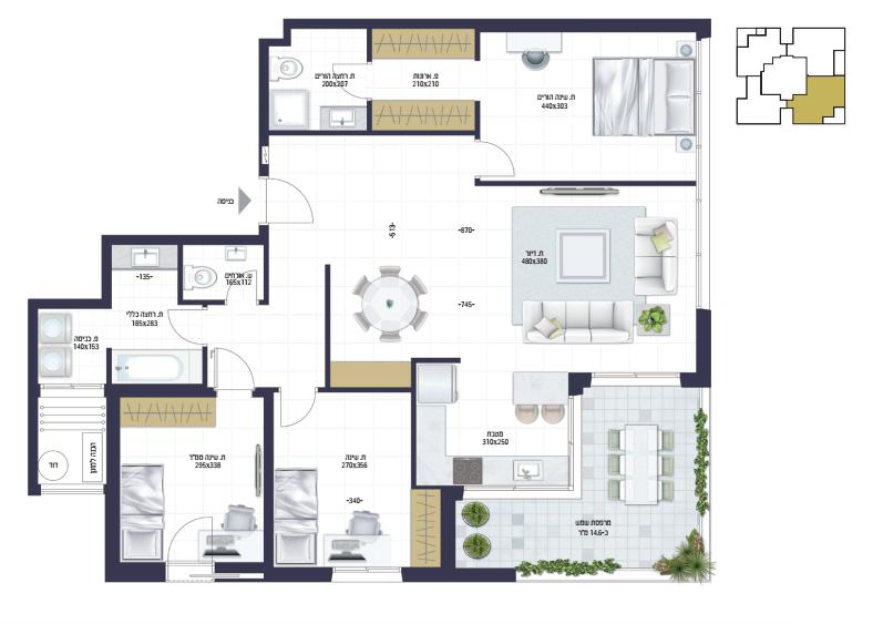 בראשית תכנית דירה1