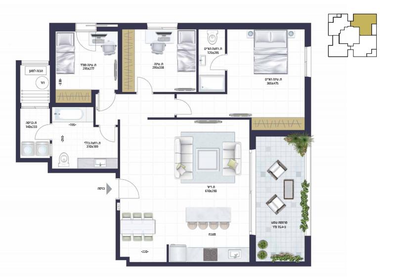 בראשית תכנית דירה2