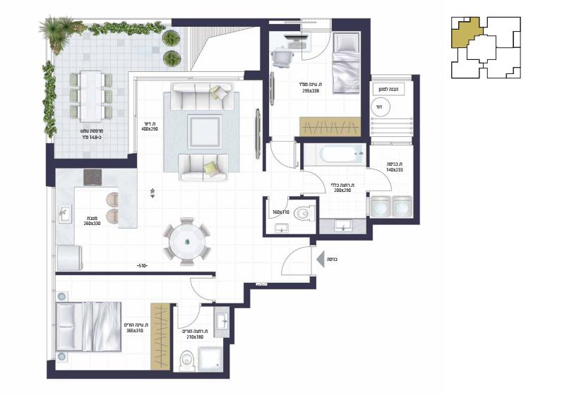 בראשית תכנית דירה3