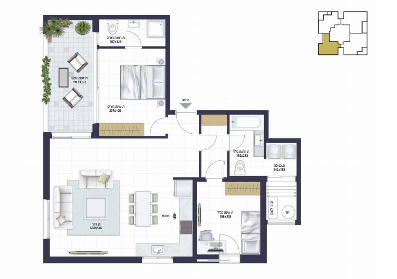 בראשית תכנית דירה4